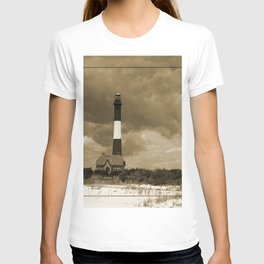 Fire Island Light In Sepia T-shirt