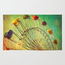 The Unbearable Elation of Summer carnival ferris wheel  Rug