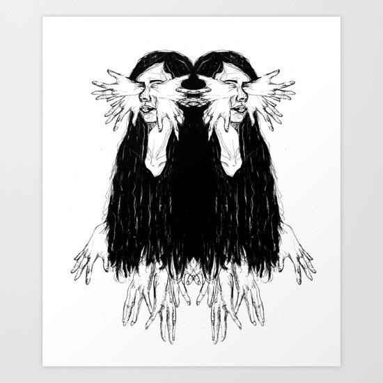 Mirroring Art Print