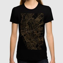 Black and gold Liverpool map T-shirt