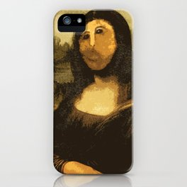 Ups! ( Mona Lisa - La Gioconda ) iPhone Case