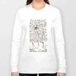 Listener Lyrics Poster Long Sleeve T-shirt