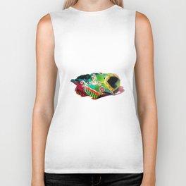 Colorsfull sheep skull Biker Tank
