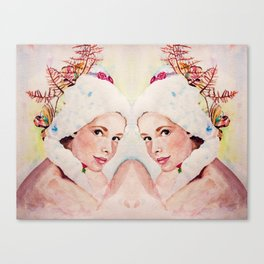 pretty face reflected Canvas Print