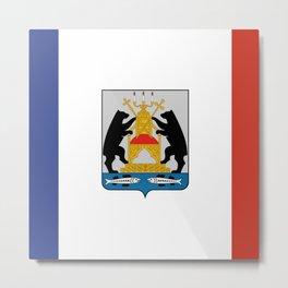 flag of Novogorod Oblast Metal Print