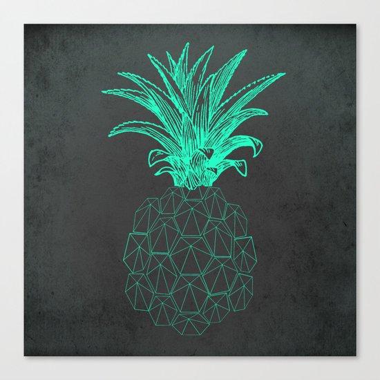 pineapple got the blues Canvas Print