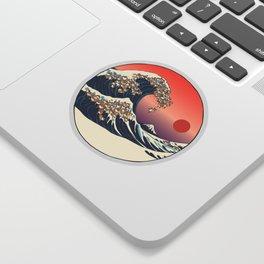 The Great Wave of Shiba Inu Sticker