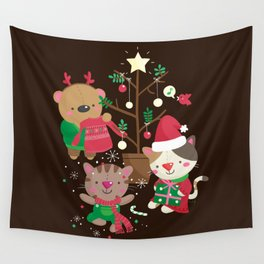 Holiday Crew Wall Tapestry