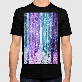 Magical Forest Lavender Aqua Teal Ombre T-shirt