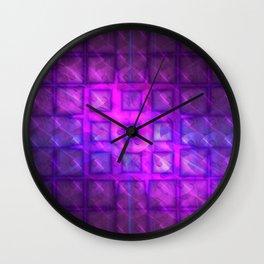Celestial Rain Tiles Wall Clock