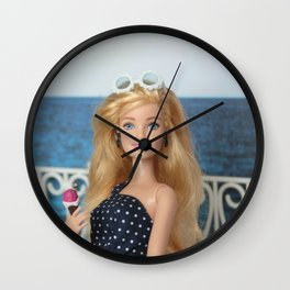 ** It's always a good day to go for a walk to watch the sea and eat a delicious ice cream. ** Wall Clock