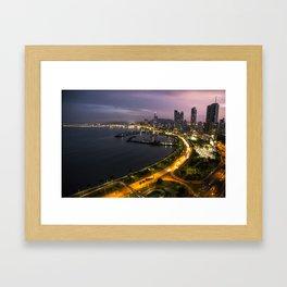 Panama City at Dusk Framed Art Print