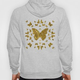 Butterfly kaleidoscope gold Hoody