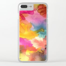 Ink Blot II Clear iPhone Case
