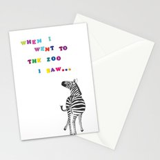 When I went to the zoo... Stationery Cards
