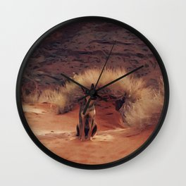 Dog in Monument Valley Wall Clock