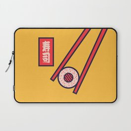 Sushi Minimal Japanese Food Chopsticks - Yellow Laptop Sleeve