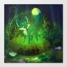 Green Fox Canvas Print