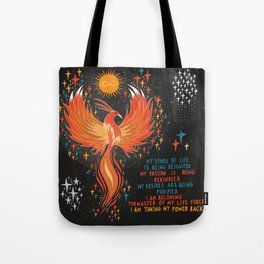 Taking my power back Tote Bag