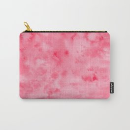 Bright Pink Abstract Watercolor Carry-All Pouch