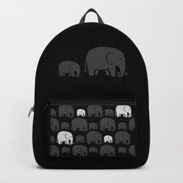 Elephant Black Backpack