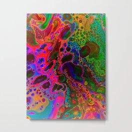 Raining Neon Metal Print
