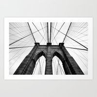 brooklyn bridge Art Prints featuring Brooklyn Bridge  by S|Tarah