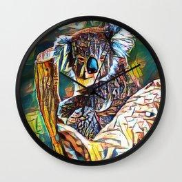 Monkey Bear Geometry   Painting Wall Clock