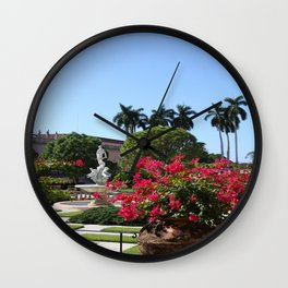 Bougainvillea Row Wall Clock