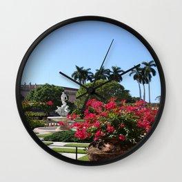 Bougainvillea Row Wall Clock
