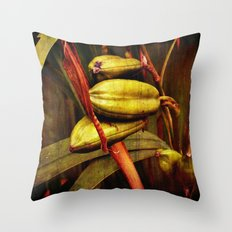 Hanging over the pond Throw Pillow