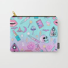 Girly Pastel Goth Witch Pattern Carry-All Pouch