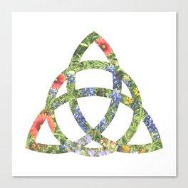 Floral Triquetra Canvas Print