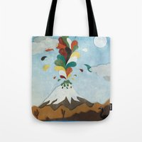 chile Tote Bags featuring Norte de Chile by i am nito