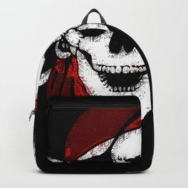 Creepy Pirate Skull and Crossbones Backpack