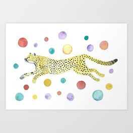 Party Cheetah Art Print