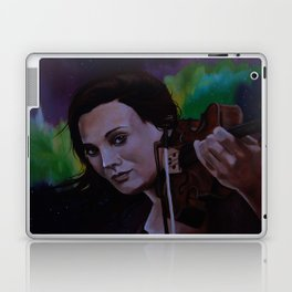 The violinist of the Northern Lights Laptop & iPad Skin