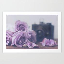 Photogenic Purple Roses Art Print