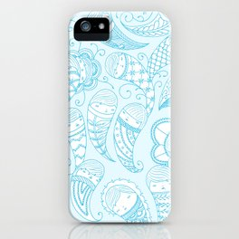 Ghostly Paisley iPhone Case