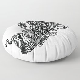 Abstract Style Corazón Crazy Floor Pillow