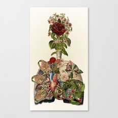 inhale life, exhale love - anatomical collage art by bedelgeuse Canvas Print