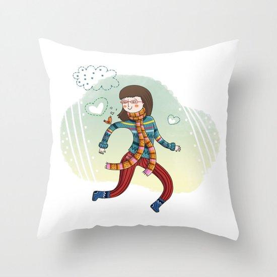 MY LITTLE FRIEND Throw Pillow