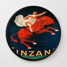 Vintage poster - Cinzano Vermouth Torino Wall Clock