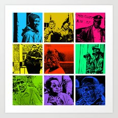 Nine street people pics Art Print