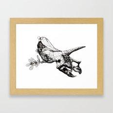Jurassic Bloom - The Horned. Framed Art Print