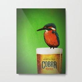 Kingfisher on a Cobra Metal Print