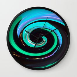 Swirling colors Wall Clock