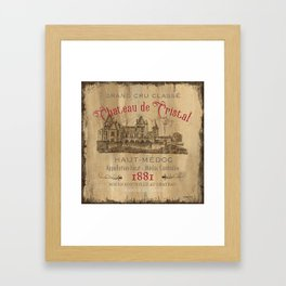 Barrel Wine Label 1 Framed Art Print