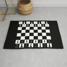 Chess Board Layout Rug