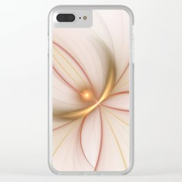 Nobly In Gold And Copper, Fractal Art Clear iPhone Case